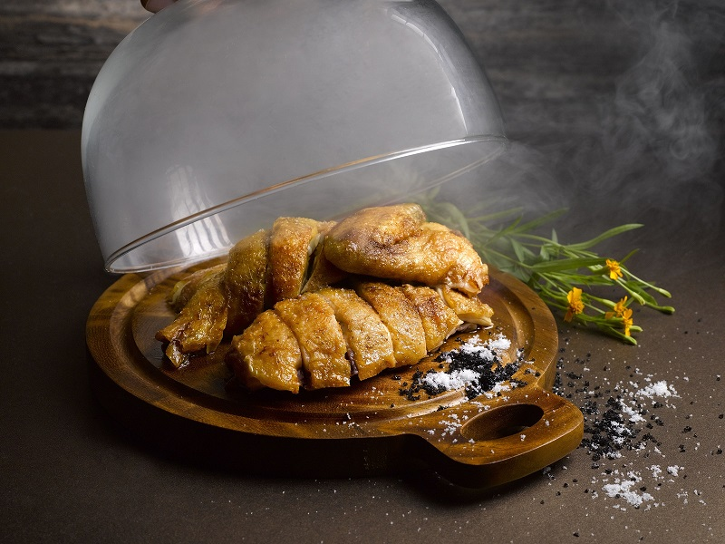 Smoked French Corn-Fed Chicken  With Salt And Hickory